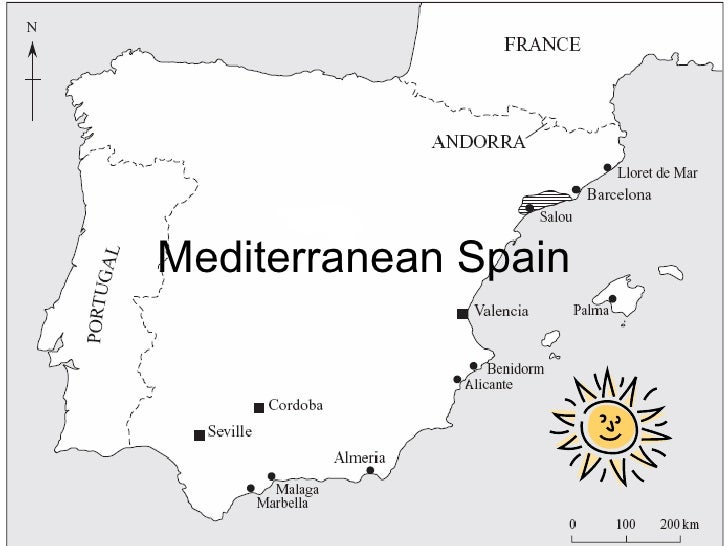 Mediterranean Spain Introduction Location Climate And Origin Of Visitors