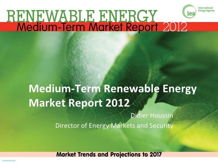 Medium-Term Renewable Energy                  Market Report 2012                                              Didier Houss...