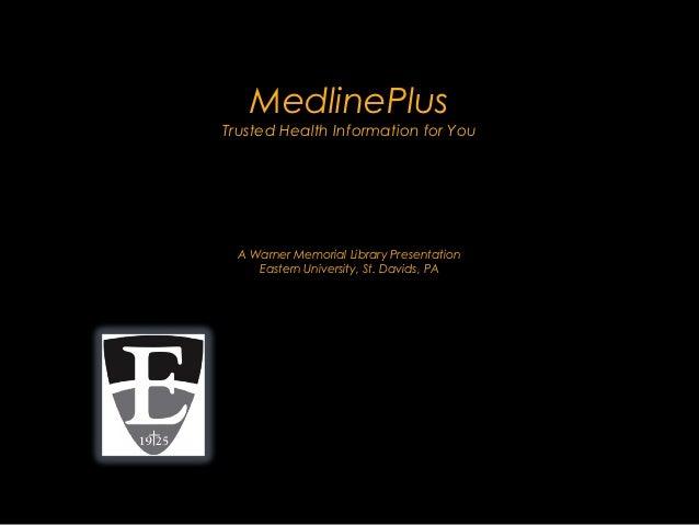 Medline Plus (Update)