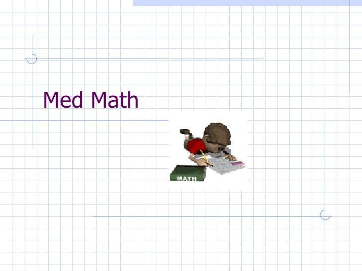 Med Math