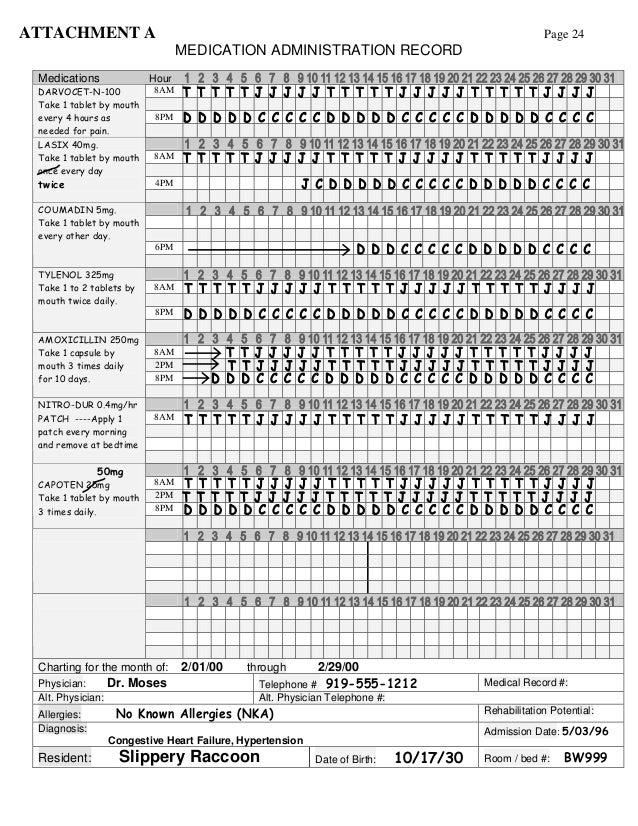 Medication Administration Record Example Medstudy
