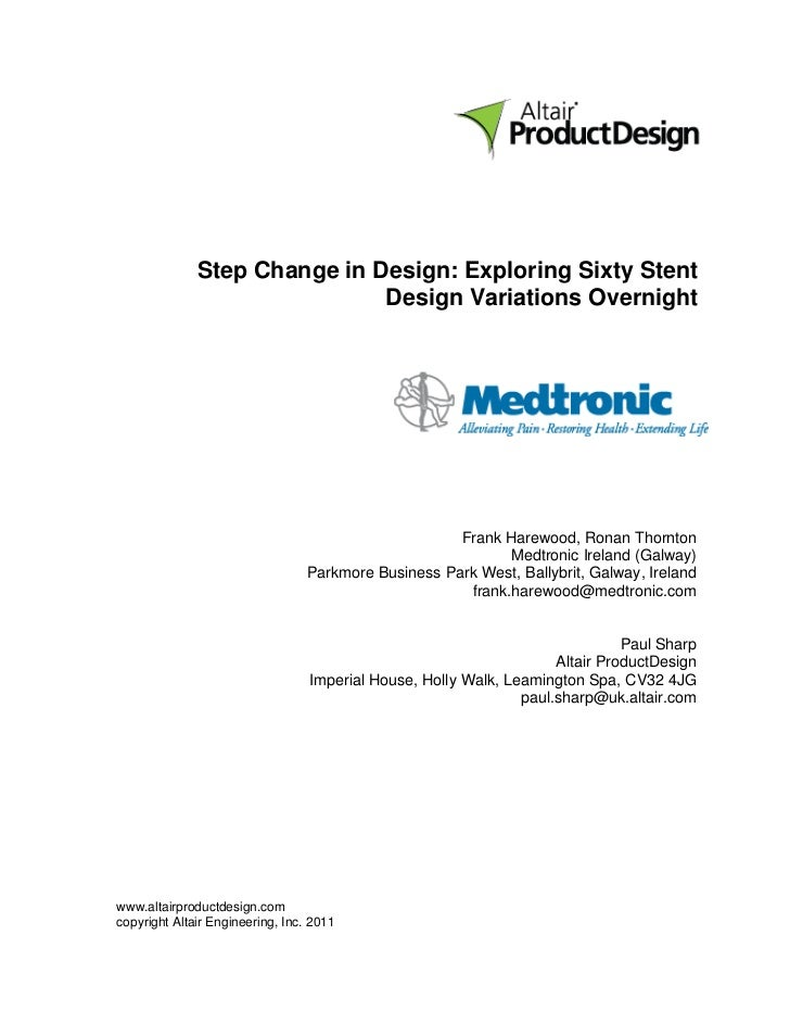 Step Change in Design: Exploring Sixty Stent                              Design Variations Overnight                     ...
