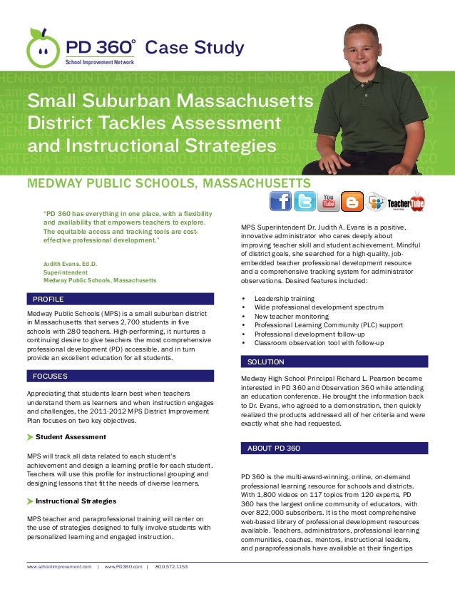 Medway Public Schools, MA - PD 360 Case Study