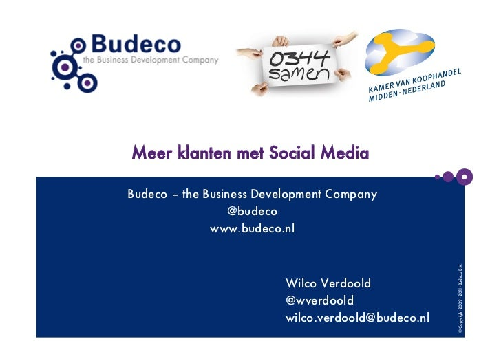 Meer klanten met social media - Budeco - the Business Development Company