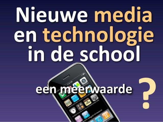 De meerwaarde van ICT voor onderwijs 2013