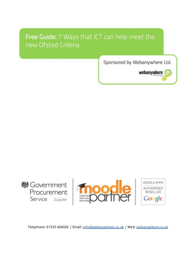 Telephone: 01535 604026 | Email: info@webanywhere.co.uk | Web: webanywhere.co.uk
