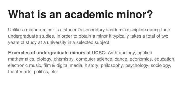 What is a major and a minor in college?