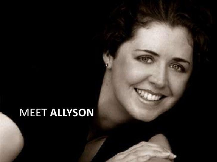 MEET ALLYSON