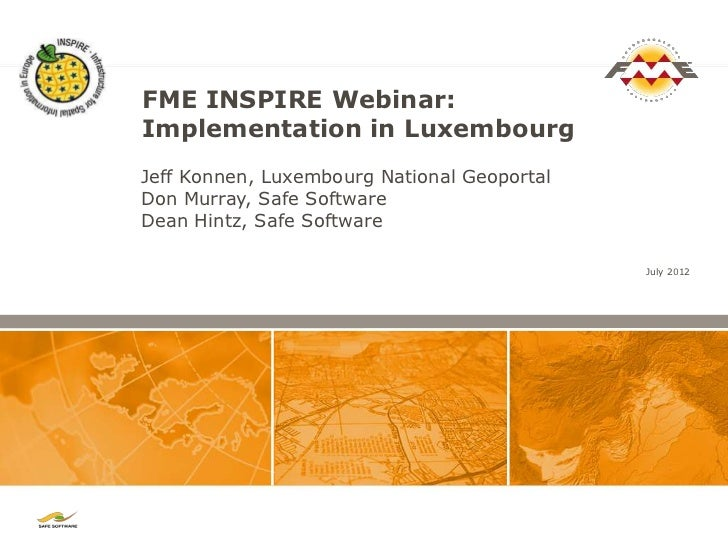 Meeting the INSPIRE Mandate with FME