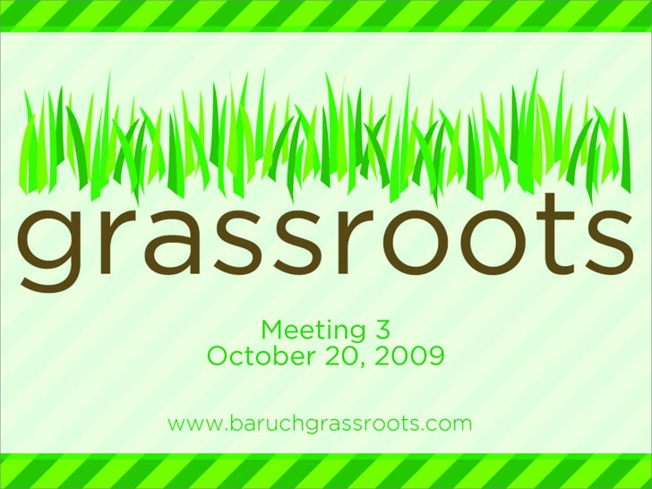 Baruch Grassroots Meeting 3