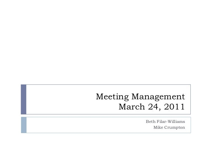 Meeting Management In Libraries