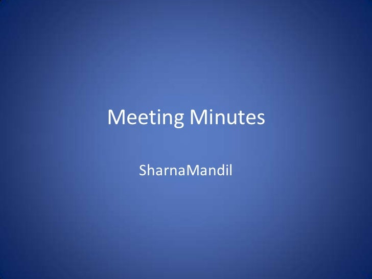 Meeting mins 5