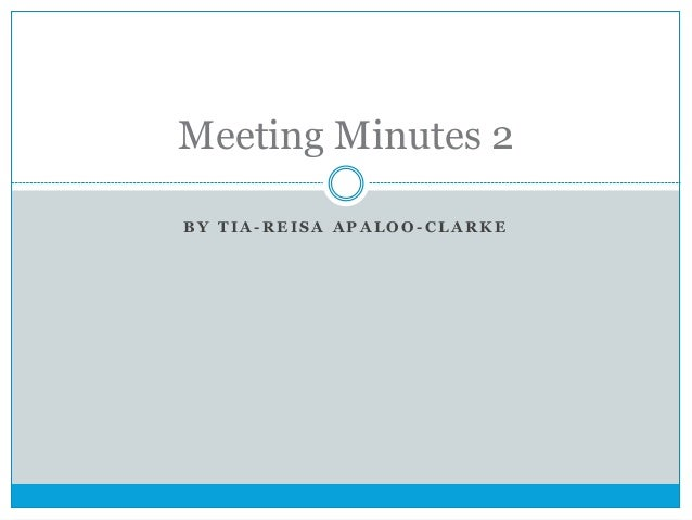 Meeting minutes 2