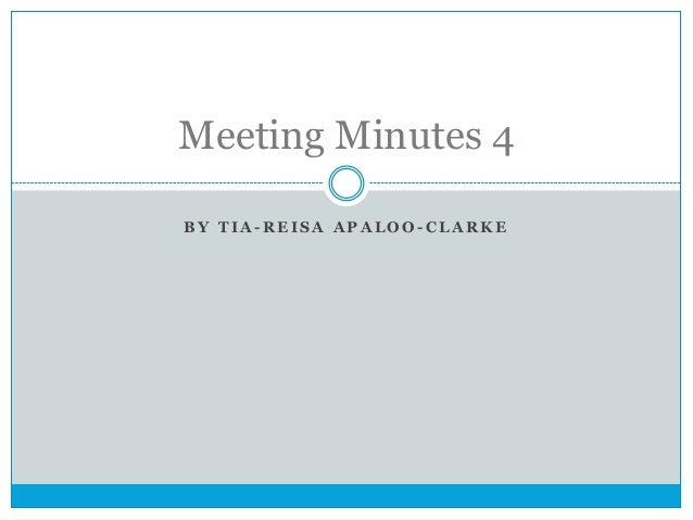 Meeting minutes 4