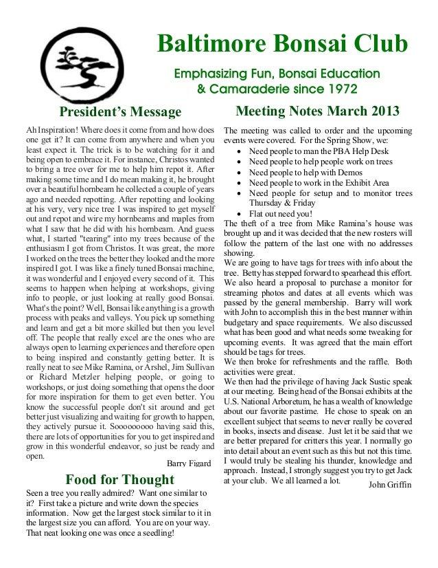 Meeting notes mar 2013