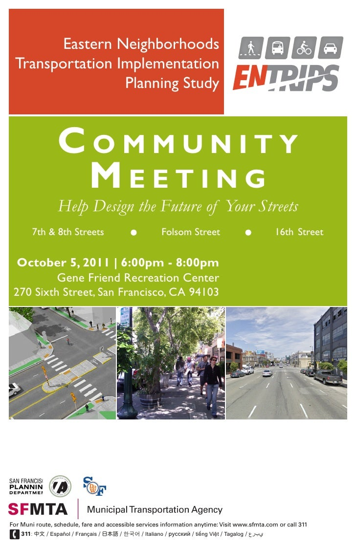 Eastern Neighborhoods Transportation Implementation                 Planning Study                 Community              ...