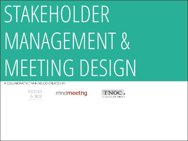 Stakeholder Management & Meeting Design Meeting Owner Conversation process