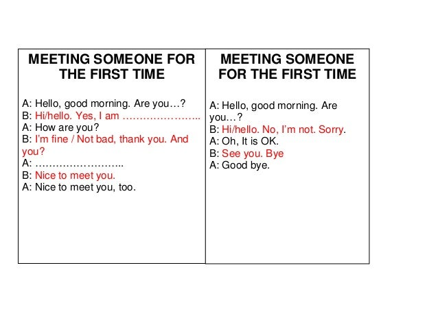 Essay about meeting someone for the first time