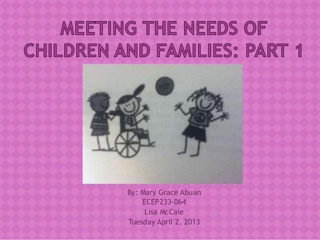 By: Mary Grace Abuan    ECEP233-064     Lisa McCaieTuesday April 2, 2013