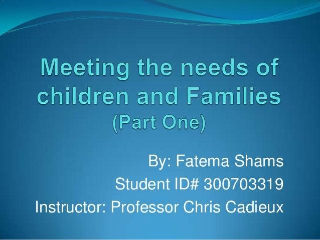 By: Fatema Shams Student ID# 300703319 Instructor: Professor Chris Cadieux