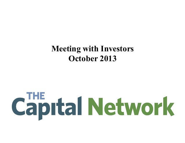 Meeting with Investors October 2013