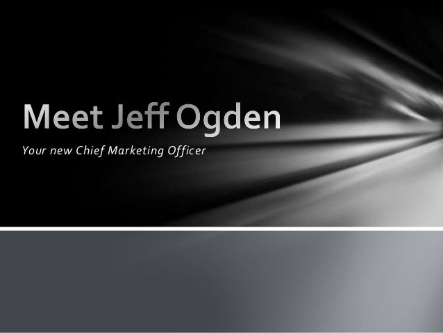 Your new Chief Marketing Officer