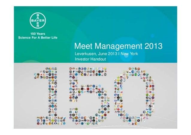 Investor Handout Meet Management 2013 New York June 2013