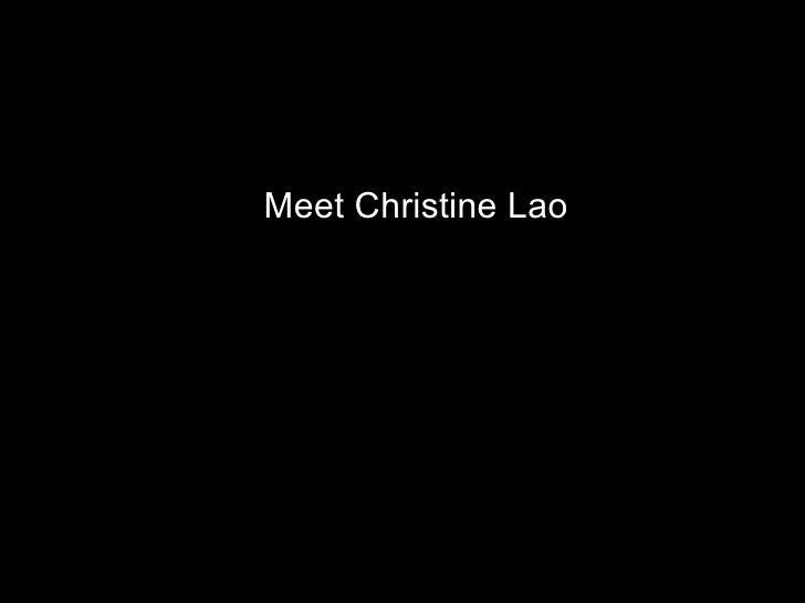 Design exercise1 Meet Christine Lao