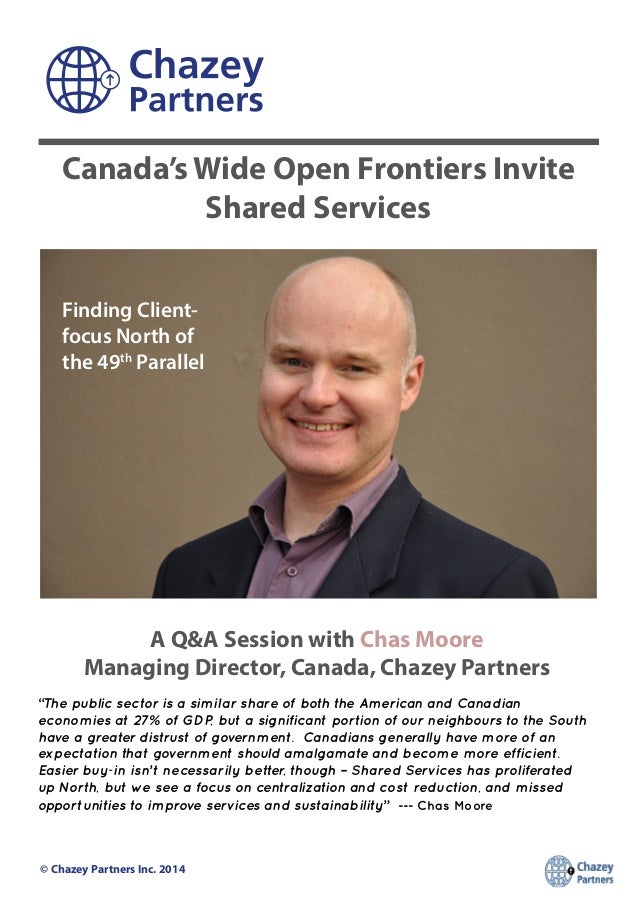 9 Questions with Chas Moore, Managing Director of Canada for Chazey Partners