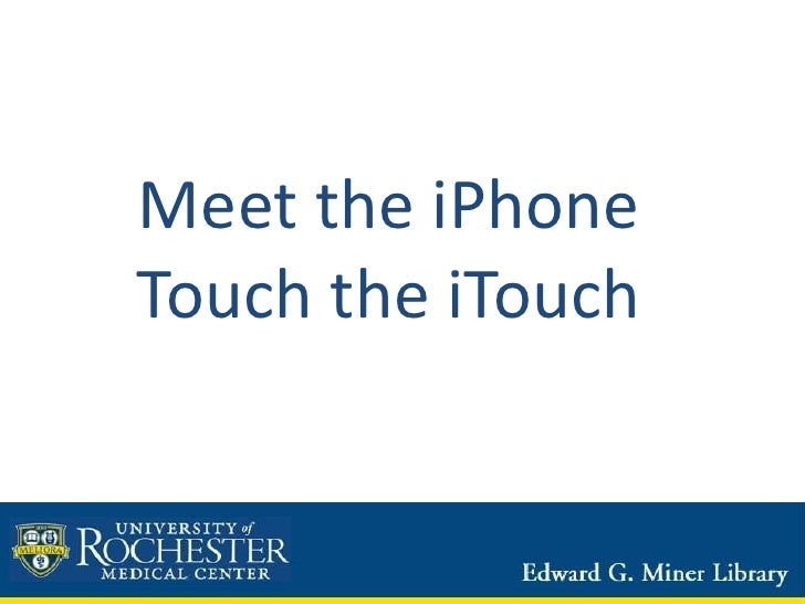 Meet the iPhone/iTouch
