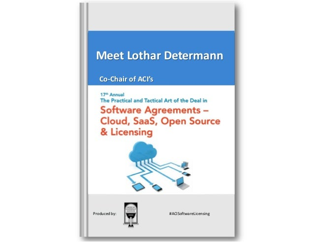 Meet the speaker   mr. lothar determann