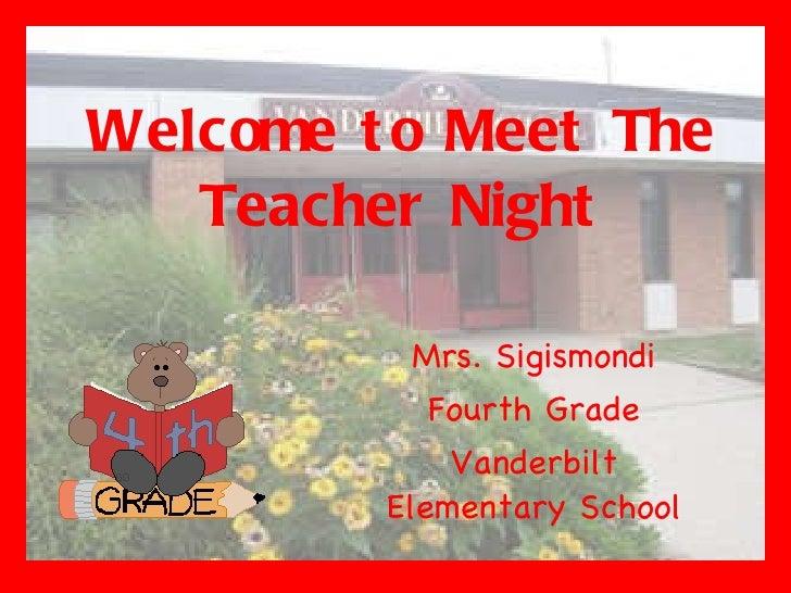 Meet the teacher 2011
