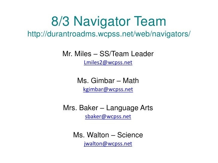 Subject Explanations (Meet the Teacher Night)