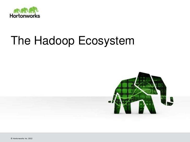 The Hadoop Ecosystem© Hortonworks Inc. 2012
