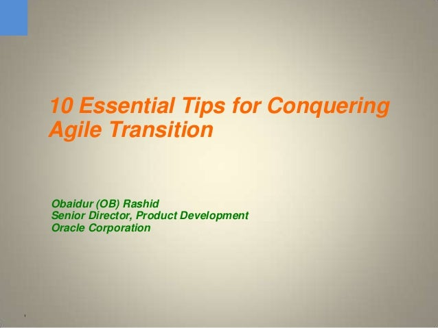 10 Essential Tips for Conquering Agile Transition