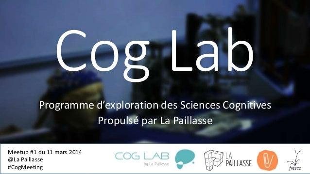 Cog Lab Programme d'exploration des Sciences Cognitives Propulsé par La Paillasse Meetup #1 du 11 mars 2014 @La Paillasse ...
