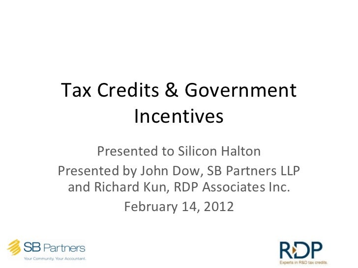 Meetup 28 - Top 10 Government Tax Credits & Incentives Your Tech Business Needs To Know About
