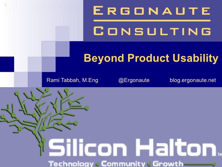 Meetup 31  UX Presentation by Ergonaute Consulting