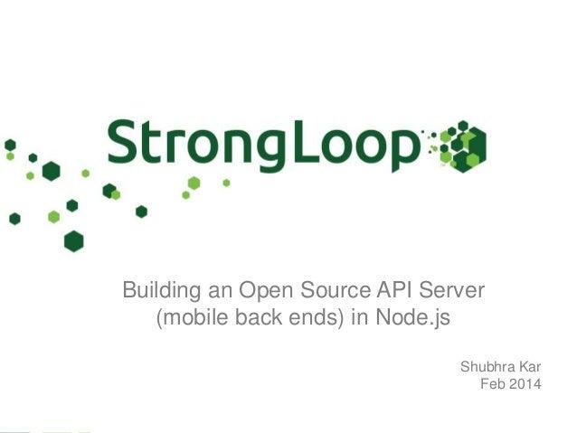 Meetup : Building an OpenSource API Server with Node.js