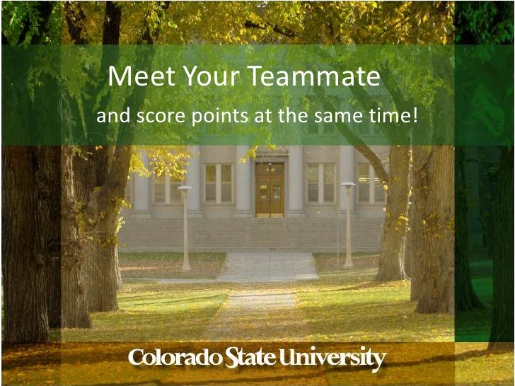 Meet Your Teammate<br />and score points at the same time!<br />