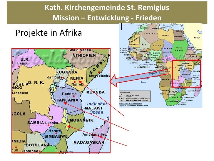 Kath. Kirchengemeinde St. Remigius Mission – Entwicklung - Frieden Projekte in Afrika