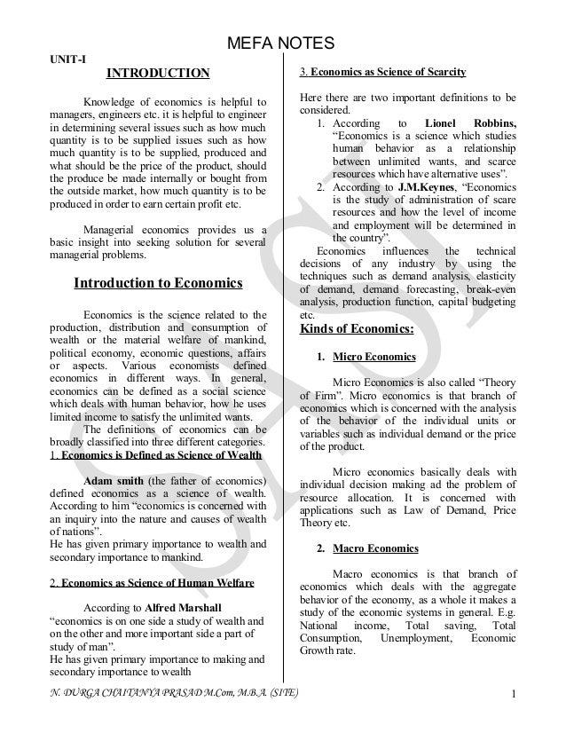 Mefa notes from durga prasad navulla