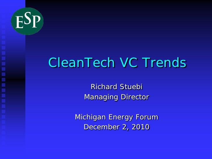 December 2010 - Michigan Energy Forum - Richard Stuebi
