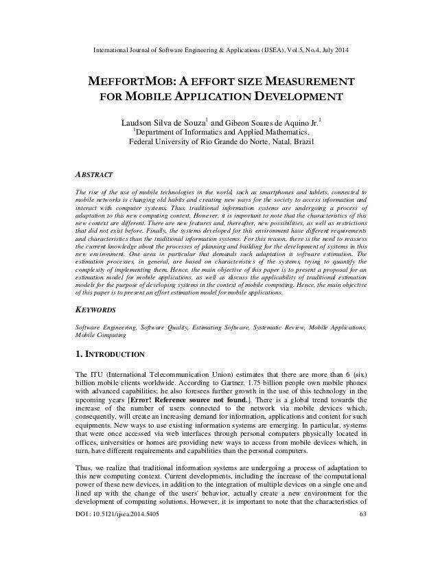 Meffortmob a effort size measurement