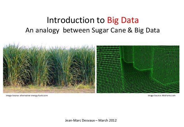 Introduction to Big Data                   An analogy between Sugar Cane & Big DataImage Source: alternative-energy-fuels....