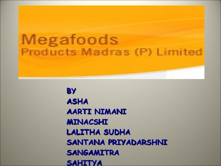 Mega Foods  Ppt  Completed 1