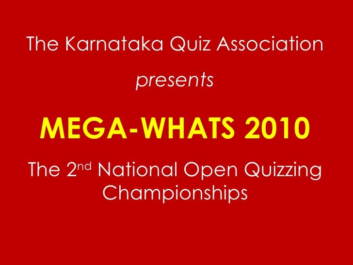 Mega whats 2010 answer key final