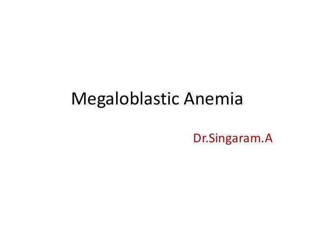 Megaloblastic anemia in childhood