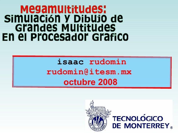 isaac  rudomin rudomin@itesm.mx  octubre 2008