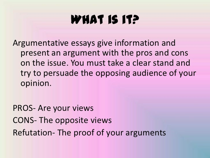 parts of argumentative essay